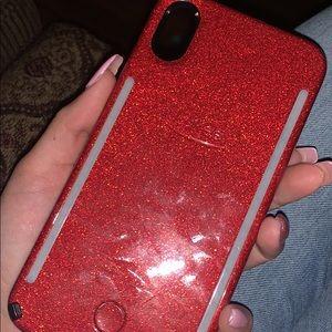 Lumee red glitter case